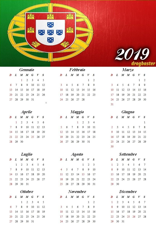 Calendario Da Scaricare.Calendario Annuale 2019