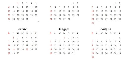 Calendario Annuale Da Stampare 2019.Calendario Annuale 2019