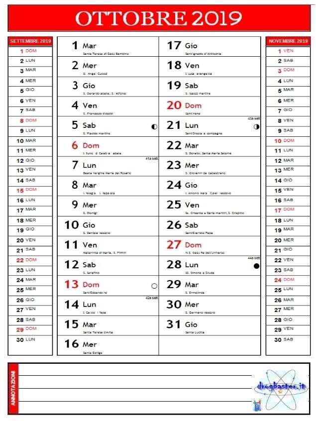 Calendario Mensile Da Stampare.Calendari 2019 Annuale E Mensile Da Stampare