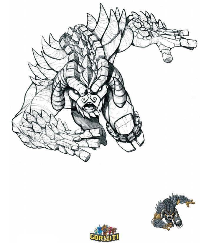 Stampa e colora gratis online i disegni dei Gormiti con tutti i personaggi