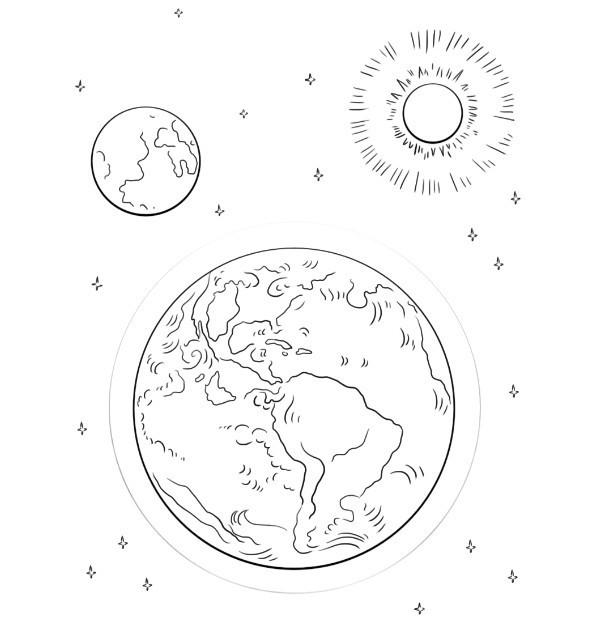 sole luna e terra