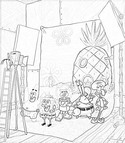 Disegni di Spongebob da colorare
