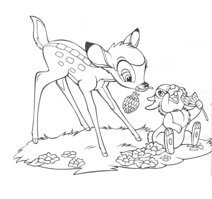 disegni di bambi