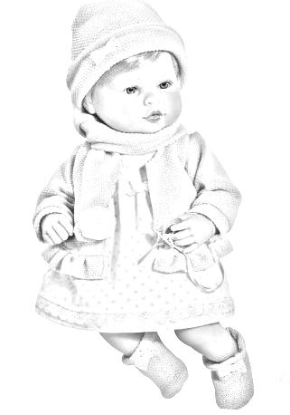 bambola da colorare