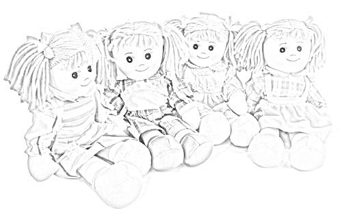 bambole di carta da colorare