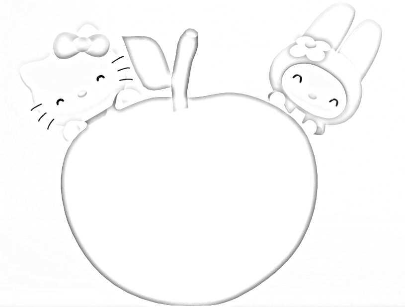 Teneri disegni di Hello Kitty da stampare