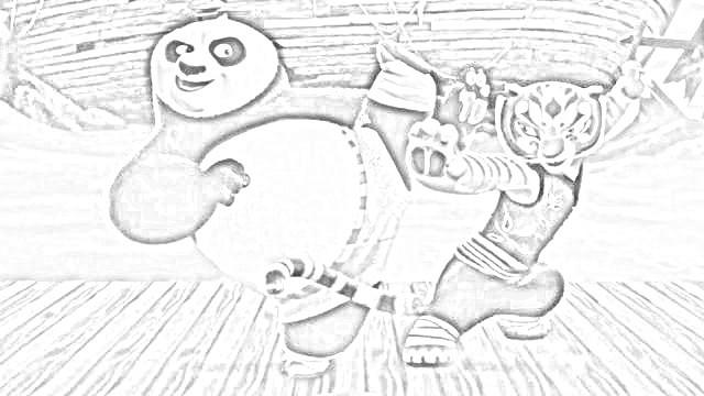 Kung fu panda disegni da colorare e da stampare