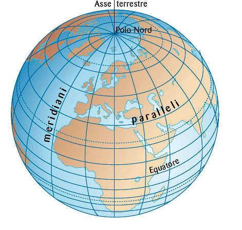 Latitudine longitudine della Terra