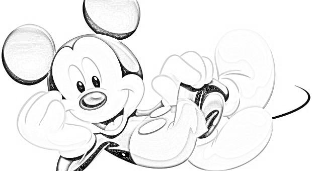 faccia di topolino da stampare
