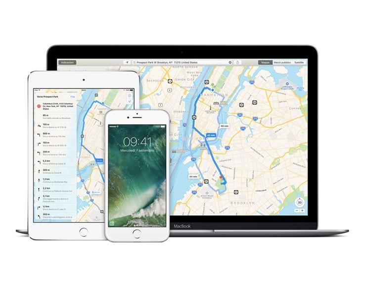app Mappe di Apple