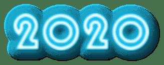 2020 scritta colorata