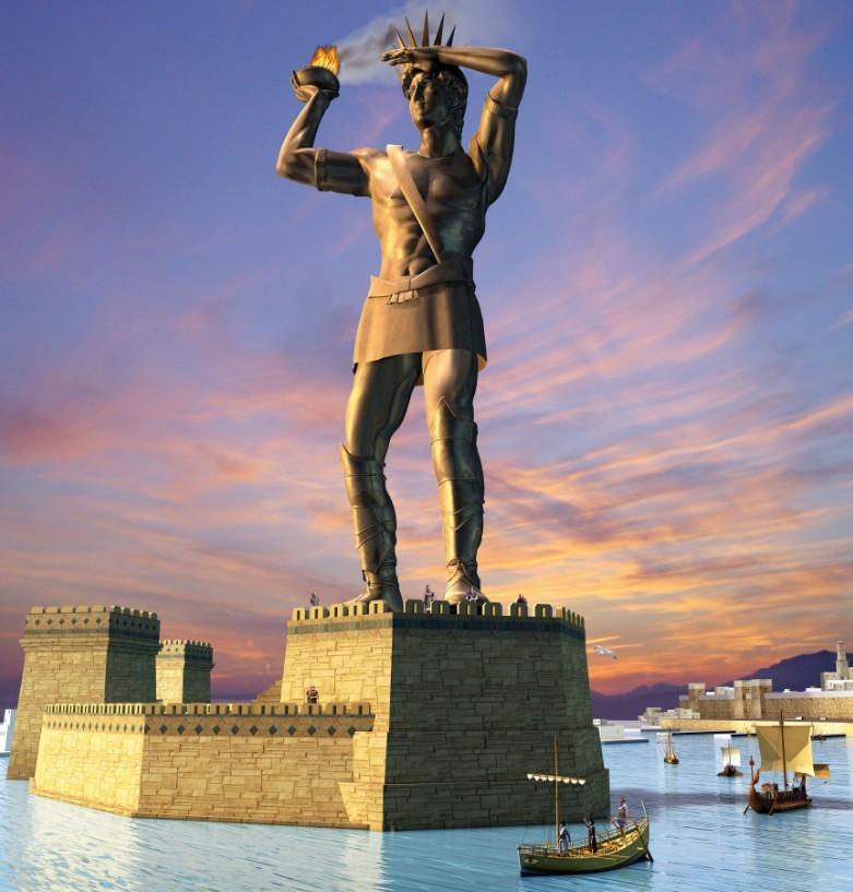 il Colosso di Rodi era una gigantesca statua