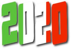 scritta 2020 colori italia