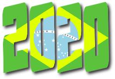 scritta 2020 colori brasile