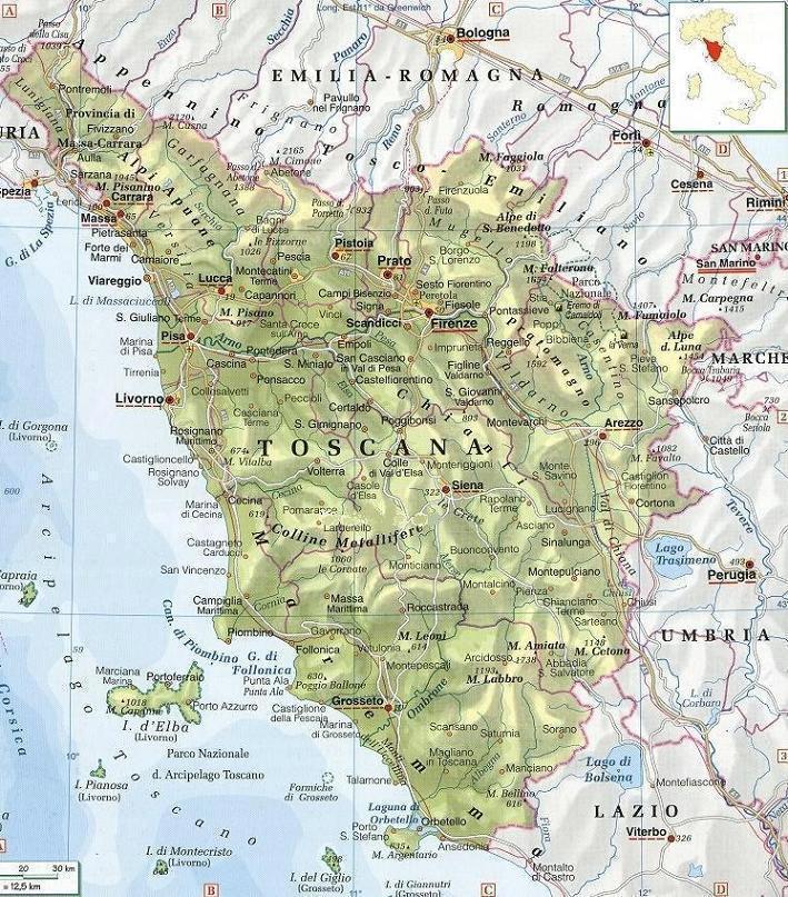 cartina politica toscana
