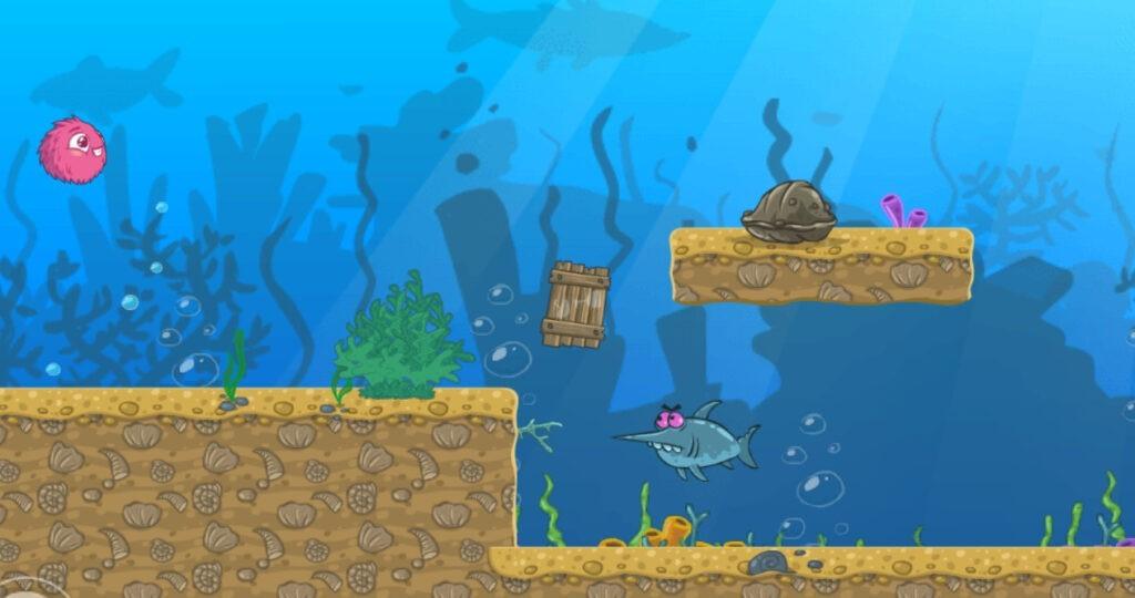 gioco avventuta con paesaggio sottomarino