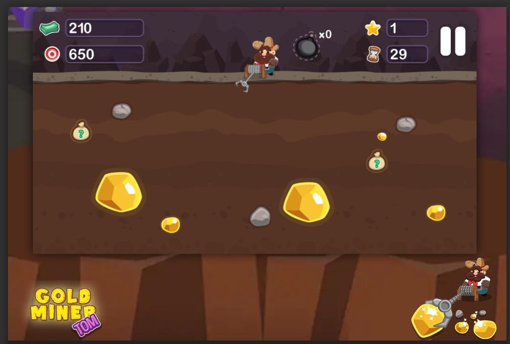 Gold Rush gioco della Miniera