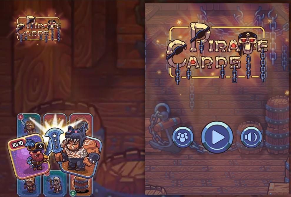 schermata del gioco pirate cards
