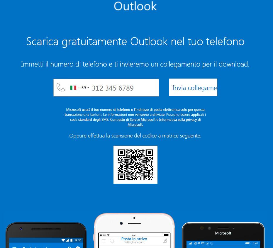 Scarica gratuitamente Outlook nel tuo telefono