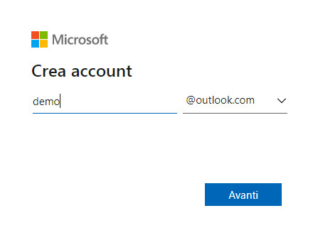 Crea account gratuito outlook
