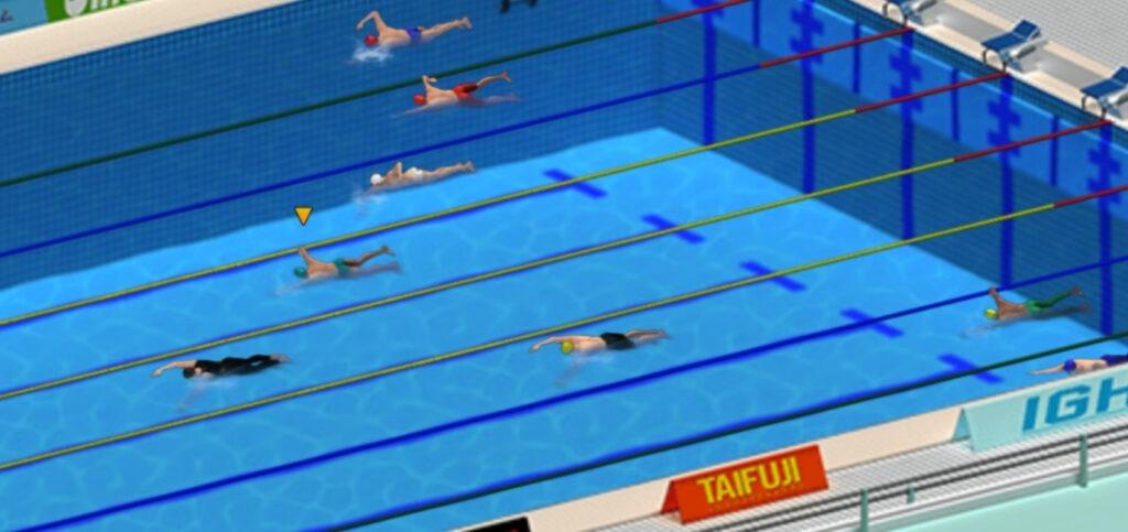 gioco del nuoto piscina olimpica
