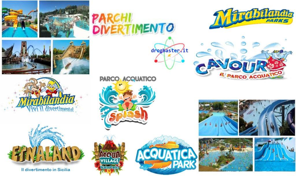 parchi acquatici presenti in Italia per regione