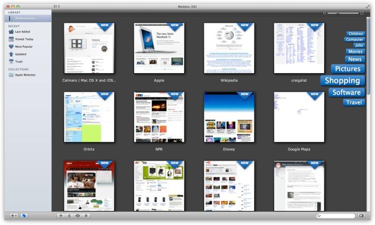 Webbla è un servizio di bookmarking specifico per Mac