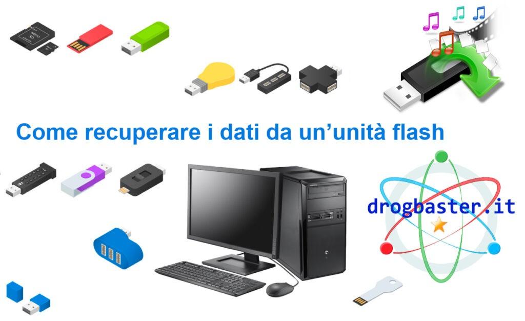 recuperare i dati da unita flash